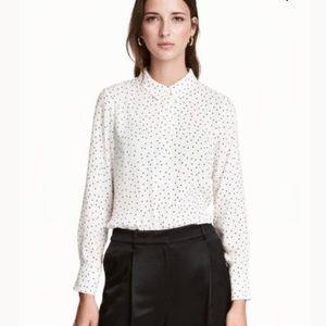 H&M | Pokadot Button Down Blouse